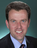 Dan Tehan MP. Liberal Wannon Vic. Official portrait Parliament House, 9 September 2010 File No 100313