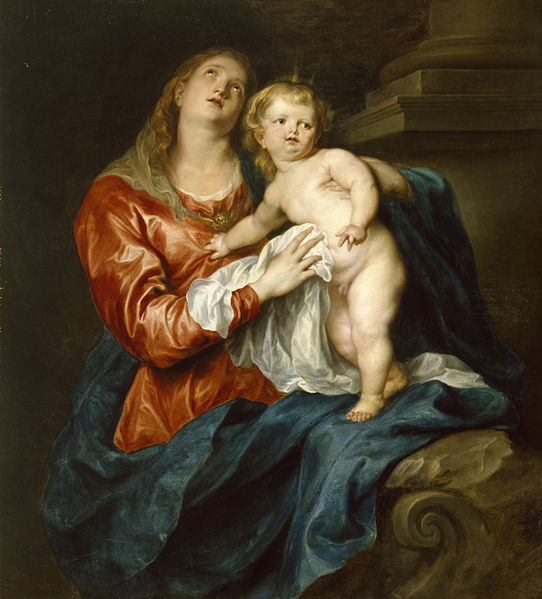 542px-Anthony_van_Dyck_-_Virgin_and_Child_-_Walters_37234