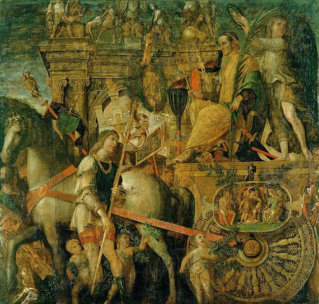629px-The_Triumphs_of_Caesar,_IX_-_Julius_Caesar_on_his_triumphal_chariot;_Andrea_Mantegna_(1484-92)