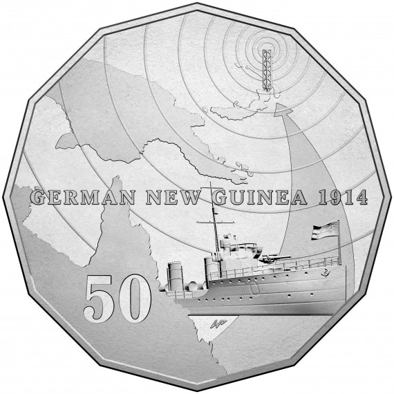 Australia at war German New Guinea coin back