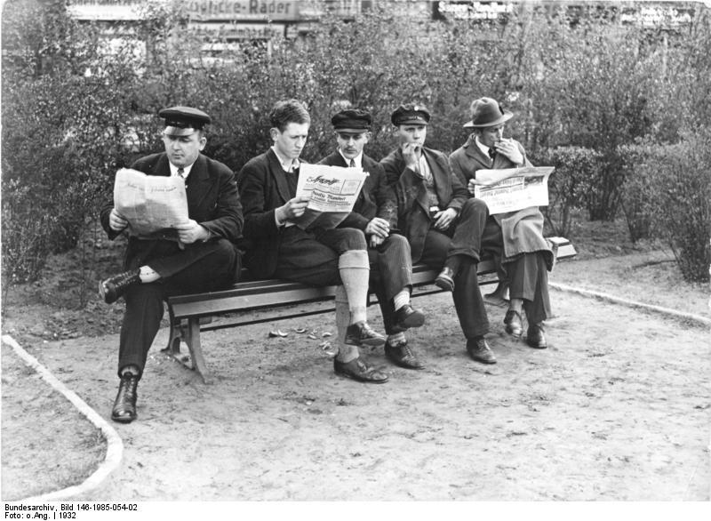 Berlin, arbeitslose SA-Männer