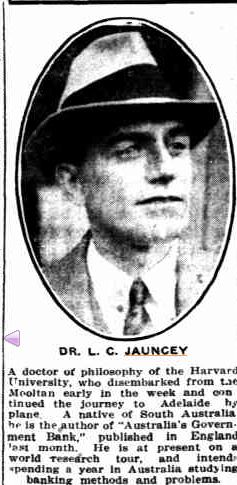 Dr. L.C. Jauncey .... 1934