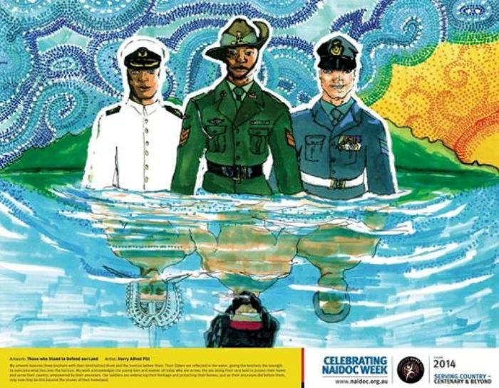 Naidoc National Poster 2014 by artist Harry Alfred Pitt_0