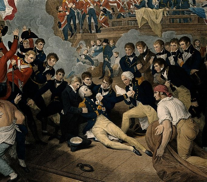 The_death_of_Lord_Nelson_on_the_quarter_deck_aboard_HMS_Vict_Wellcome_V0006852