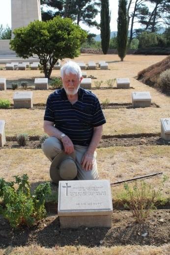 Walter at grave