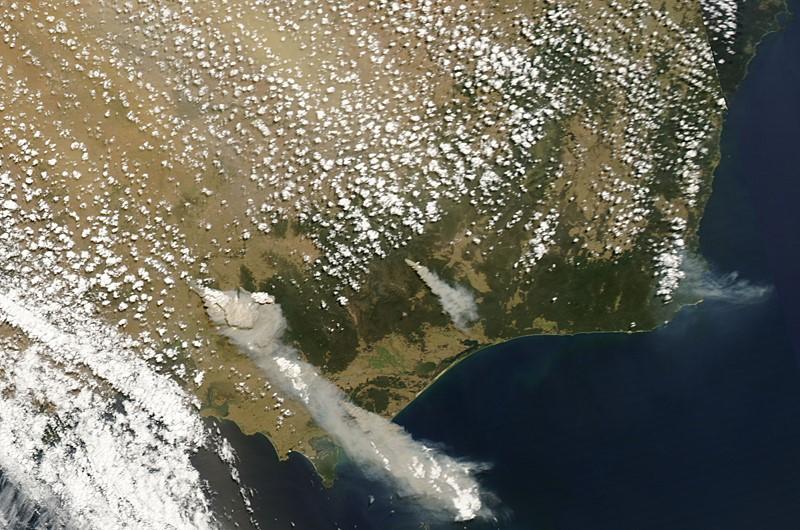 bushfire aerial